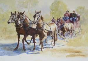 Stage coach at Kilkivan